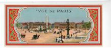 Antique Turkish Fez label from Turkey glazed Paris view #004